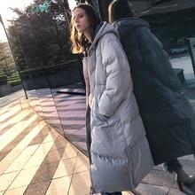 Фотография INMAN 2017 new winter hooded long thick warm white duck down coat female