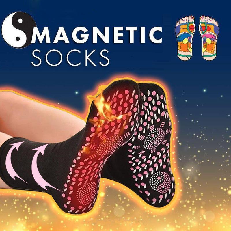 1Pair Fir Tourmaline Magnetic Socks Self Heating Therapy Magnetic Socks Unisex Magnetic Therapy Foot Care Massage Socks