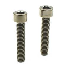 ФОТО 12 pcs m6 ti bolt m6 10-35mm lengths grade 5 titanium bolt original ti color hexagon socket titanium screws ti fastener