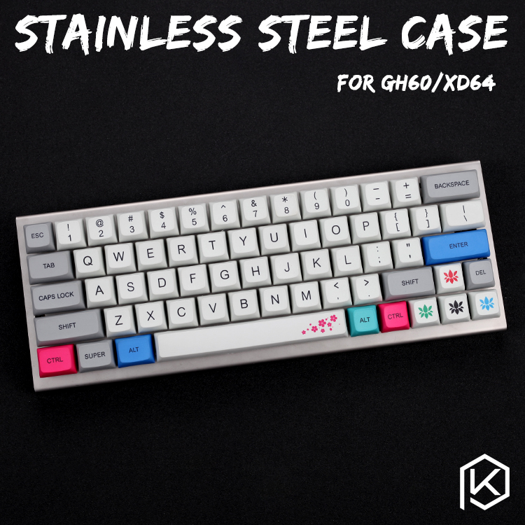 Stainless Steel Case For Xd60 Xd64 Gh60 60% Custom Keyboard Acrylic Panels