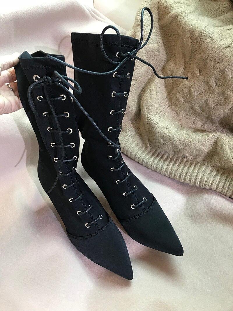Sexy Dentelle Printemps 9cm Feminino Nues Dames As up Chaussures as Mujer Élastique Automne Botas 7cm as Feminina Sapato 9cm Bottes Pic Femmes Marée Bota Nouveau EFq7pSxa
