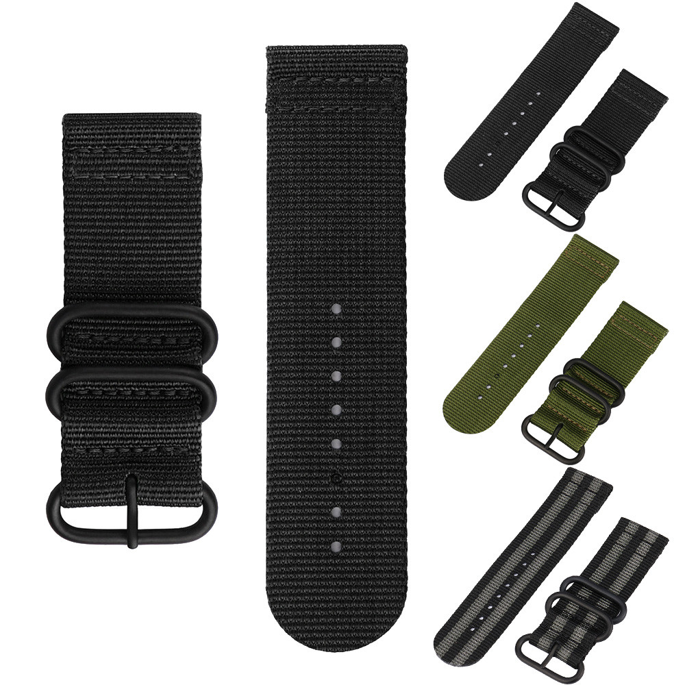 New Nylon Watchband Strap 26mm WatchBand Strap Stainless Steel Buckle Canvas Replacement Luxury Nylon Band Strap For Watch #T canvas men s watchband for diesel watches 26mm silver buckle watch strap for male casual canvas watch band watchstrap for diesel