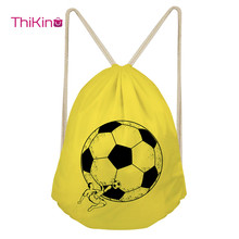 Thikin Soccer Ball Rolling Backpack for Teenager Kids Casual Sack Backpack Mini Toddler Backpack Boys Beach Mochila