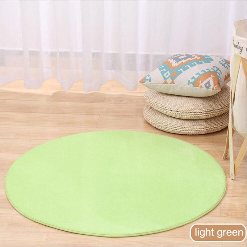 ONEONEY 80*80 простые приветственные круглые коврики с принтом для ванной, кухни, коврики для гостиной, противоскользящие - Цвет: 09