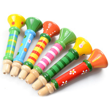Baby Wooden Small Horn Whistle Musical Toys Gift Colorful Developmental Toy For kids and children music instrumental toys