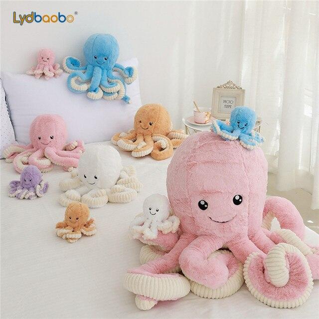 1pc 18 centimetri di trasporto Creativo Octopus Giocattoli di Peluche Polpo Bambole e Pupazzi Peluche Piccolo Ciondolo Balena Mare Animale Giocattoli Per Bambini Regali per Bambini 3