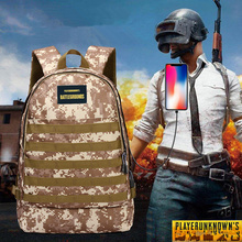 Man Outdoor Camouflage Backpack Men's Jedi Survival Eating Chicken Three Level Pack Outdoor Sports Hiking Travel Hunting Bags недорого