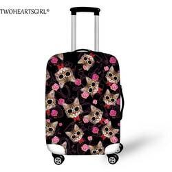 TWOHEARTSGIRL 3D печать прекрасный кот собака Чемодан крышка Для женщин дорожного чемодана охватывает защитить против пыли Тележка багажник кейс