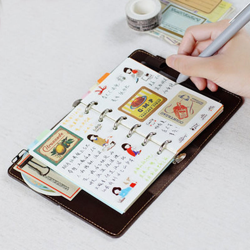 2017 Duga Korea Creative A7 Planner Күнделік Spiral Notepad - Блокноттар мен жазу кітапшалары - фото 3
