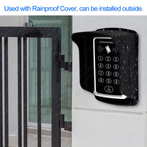 Image 3 - עמיד למים RFID בקרת גישה לוח מקשים חיצוני אטים לגשם כיסוי 125KHz EM כרטיס קורא 10pcs Keyfobs דלת בקרת גישה מערכת