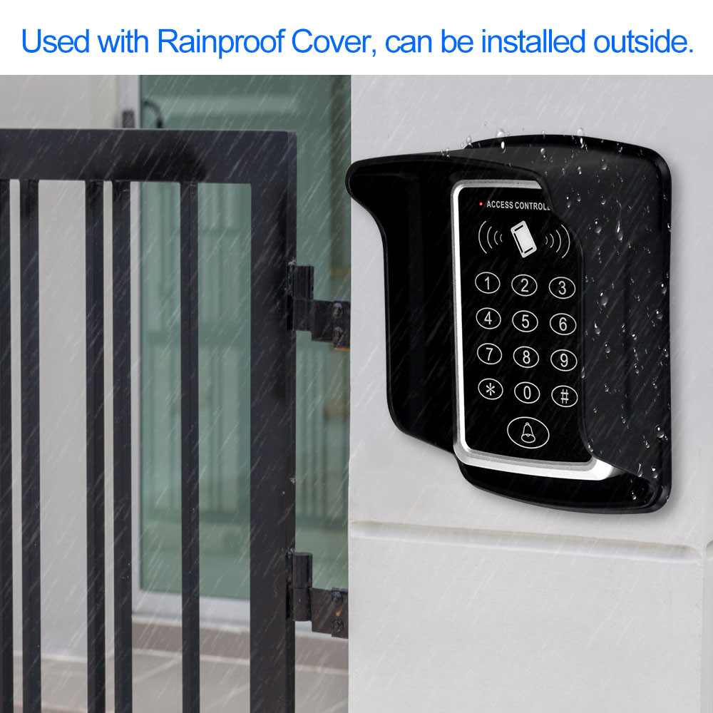Image 3 - Waterproof RFID Access Control Keypad Outdoor Rainproof Cover 125KHz EM Card Reader 10pcs Keyfobs For Door Access Control System-in Access Control Kits from Security & Protection