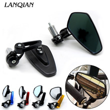 Universal Motorcycle Handlebar Rear View Side Mirror Rearview Mirrors For Kawasaki GTR1400 / CONCOURS H2 H2R MONSTER ZX9R