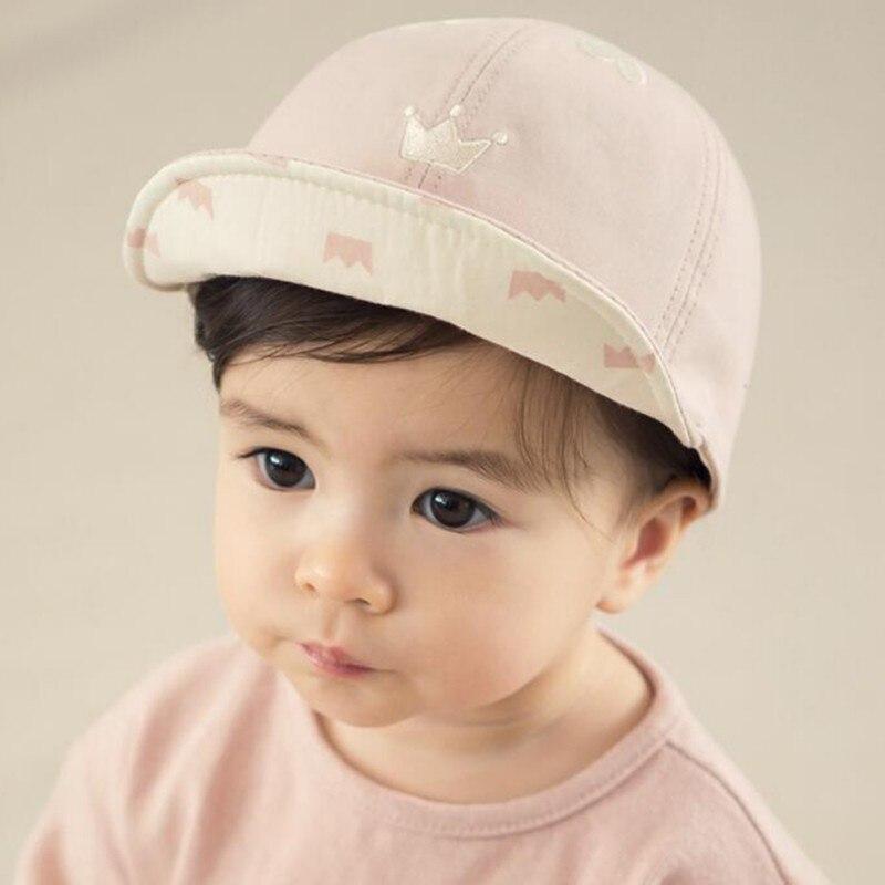 b69c1b903a1 Primavera otoño bebé niño niña sombrero de Sol de moda Linda corona impresa  suave Eaves gorra de béisbol 6 M-3 T