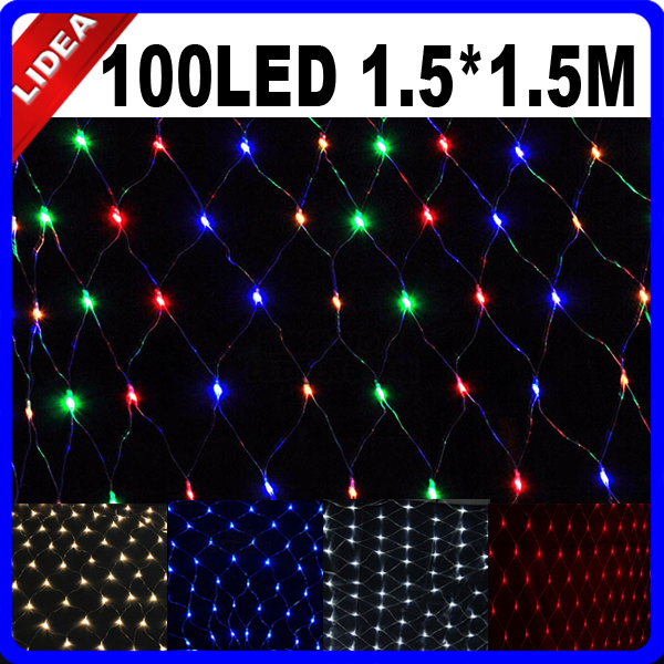 1.5 * 1.5M 100 LED Party Γάμος Κήπος Νέο Έτος Net - Φωτισμός διακοπών - Φωτογραφία 1