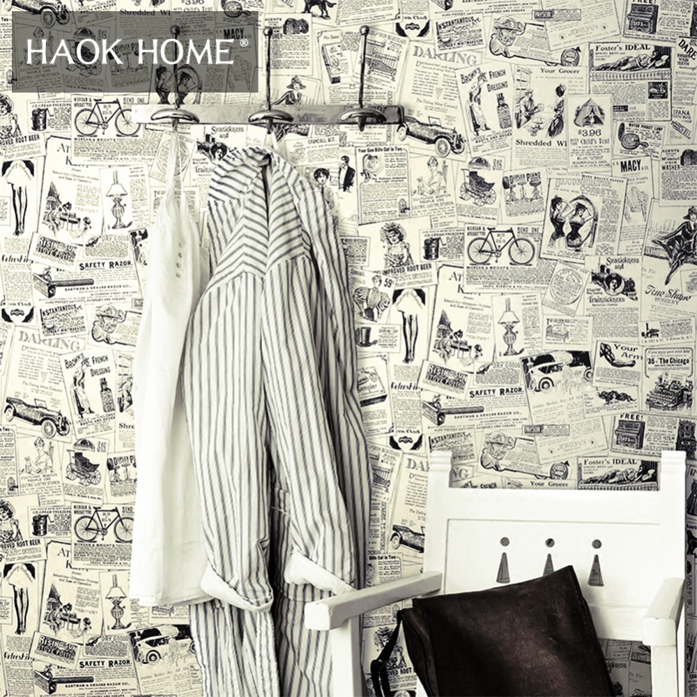 buy vintage newspaper wallpaper and get free shipping on aliexpress