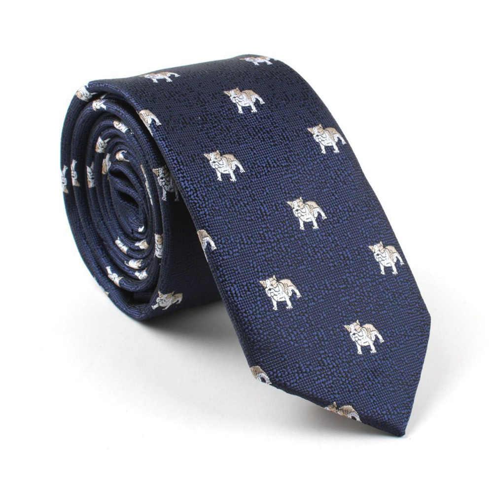 555595774e Mantieqingway Classic 6cm Mens Cartoon Shark Pattern Neck Ties Polyester  Animals Floral Necktie For Men Wedding