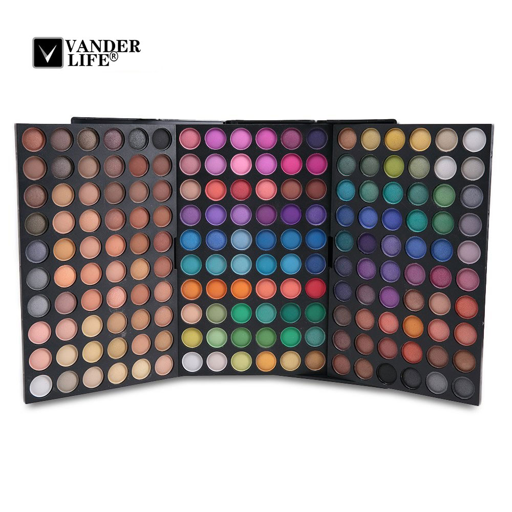 180 Color Shades Face Makeup Eyeshadow Palette Highlighter Glitter Shimmer Waterproof Pigment Eye Shadow Beauty Cosmetic Tool serseul portable 180 color waterproof cosmetic makeup eyeshadow palette