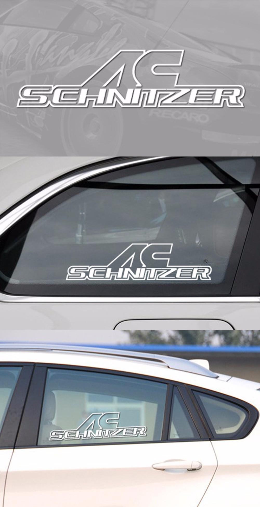 New Style AC Schnitzer Window Car Body Stickers Car Decals for BMW