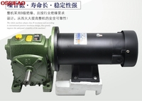 DC220V 500W 1800RPM motor with WPDS vertical gear motor worm gear reducer gearbox