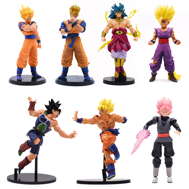 15-23cm Dragon Ball Z Son Gohan Zamasu Burdock Broly Action Figure PVC Toys Super Saiyan Broli Anime DBZ Kids Collection Model