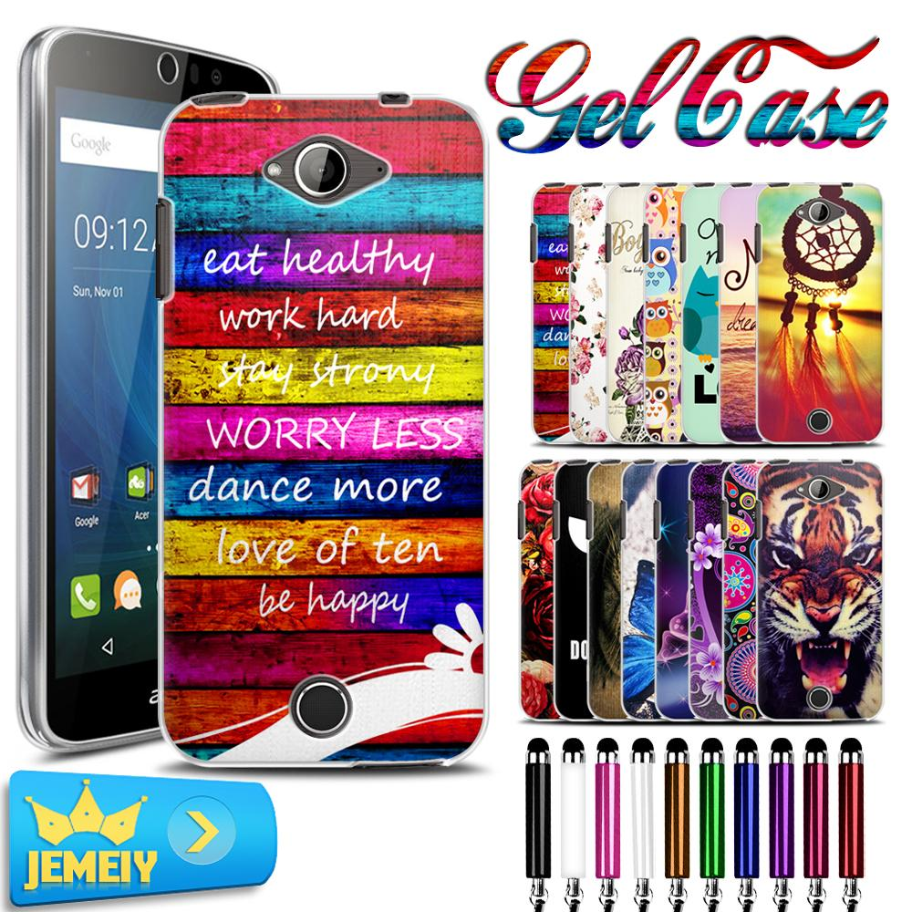 For <font><b>Acer</b></font> <font><b>Liquid</b></font> <font><b>Z530</b></font> Cartoon Flowers Skin UV Printed TPU Gel <font><b>Case</b></font> Back Cover For <font><b>Acer</b></font> <font><b>Liquid</b></font> <font><b>Z530</b></font> Soft <font><b>Case</b></font>