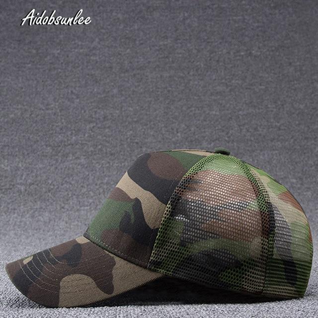 2017 New Arrival MEN'S HATS Men Camo Baseball Caps Mesh for Spring Summer Outdoor Camouflage Jungle Net Ball Base Army Cap Hot 1
