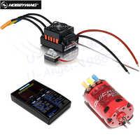 Hobbywing QUICRUN 10BL120 Sensored 120A / 10BL60 Sensored Brushless ESC  Speed Controller For 1/10 1/12 RC Mini Car
