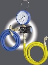 Hvac 1-way Manifold gauge HS-470A-R410 Single Gauge For R410 With 2pcs low Pressure Hose hvac 1 way manifold gauge hs 470a r410 single gauge for r410 with 2pcs low pressure hose