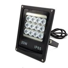 12 шт. светодиодный 60 м cctv высокая мощность светодиодный потолочный светильник лампа IP66 белый светодиодный свет осветитель для cctv камеры безопасности системы Ночное видение SI-B12IR