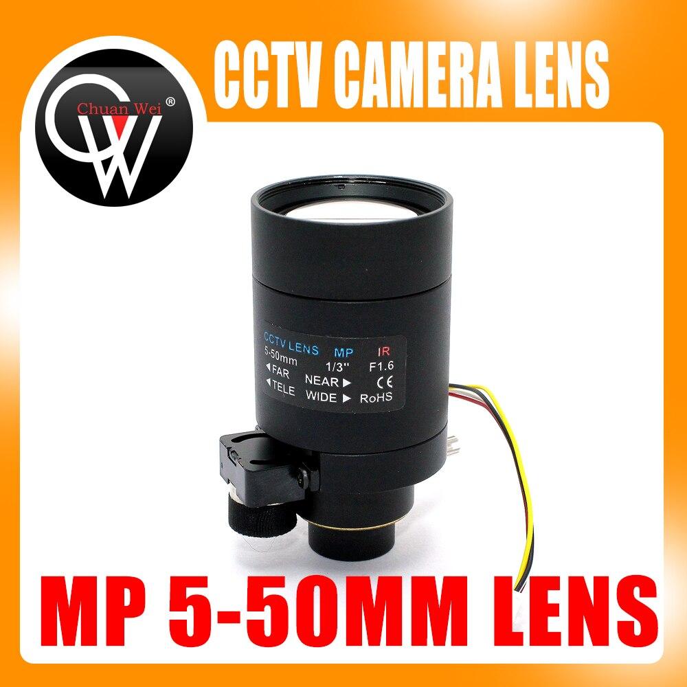 HD Varifocal Lens 5-50mm D14 Mount DC Auto Aperture View About 100m For Analog/720P/1080P AHD/CVI/TVI/IP CCTV Camera