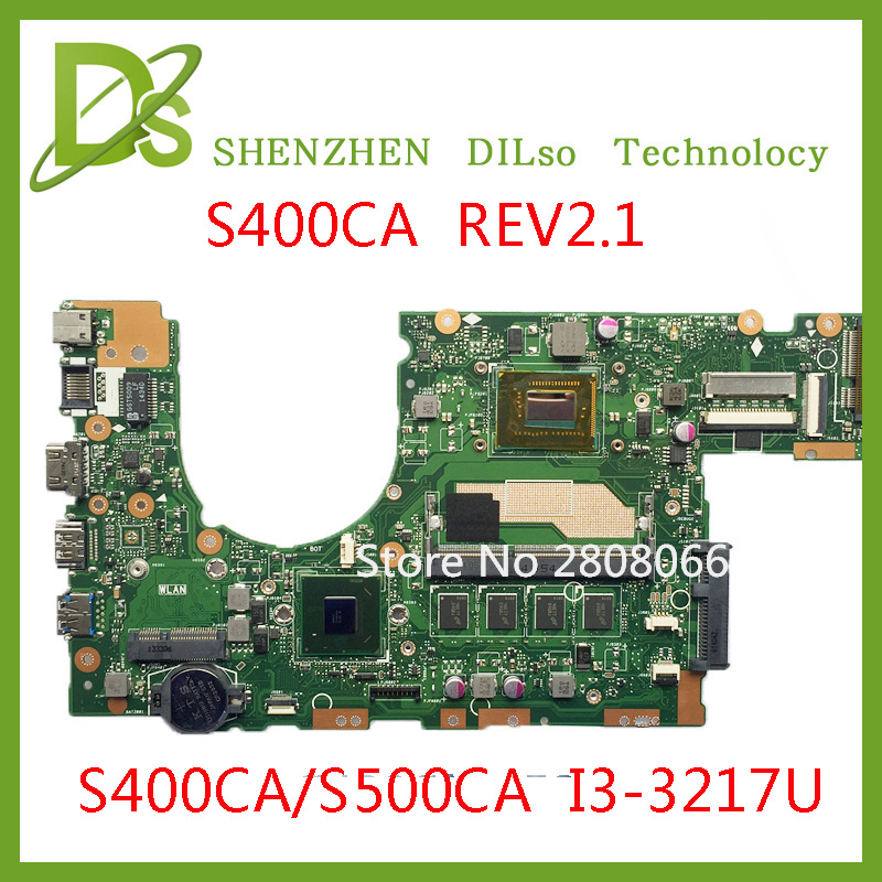 SHUOHU s400ca For ASUS S400CA s500ca Laptop motherboard S400CA mainboard REV2.1 i3-3217u  Integrated 100% tested for asus x550lc laptop motherboard x550lc rev2 0 i3 4010u graphic gt720m non integrated mainboard 100