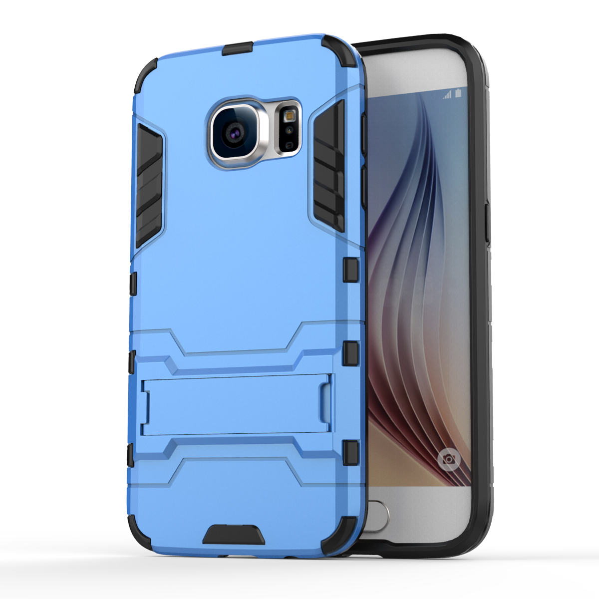 Armor Case for Samsung Galaxy S7 G9300 Heavy Duty Hybrid Hard Soft Rugged Silicone Rubber Phone Cover Coque + Stand Function (