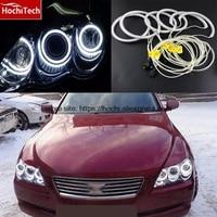 HochiTech 6pcs WHITE 6000K CCFL Headlight Halo Angel Demon Eyes Kit angel eyes light For Toyota Mark X Mark X REIZ 2004 2009