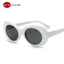 UVLAIK Clout Goggles NIRVANA Kurt Cobain Round Sunglasses For Women Mirror Glasses Retro Female Male Sun Glasses UV400