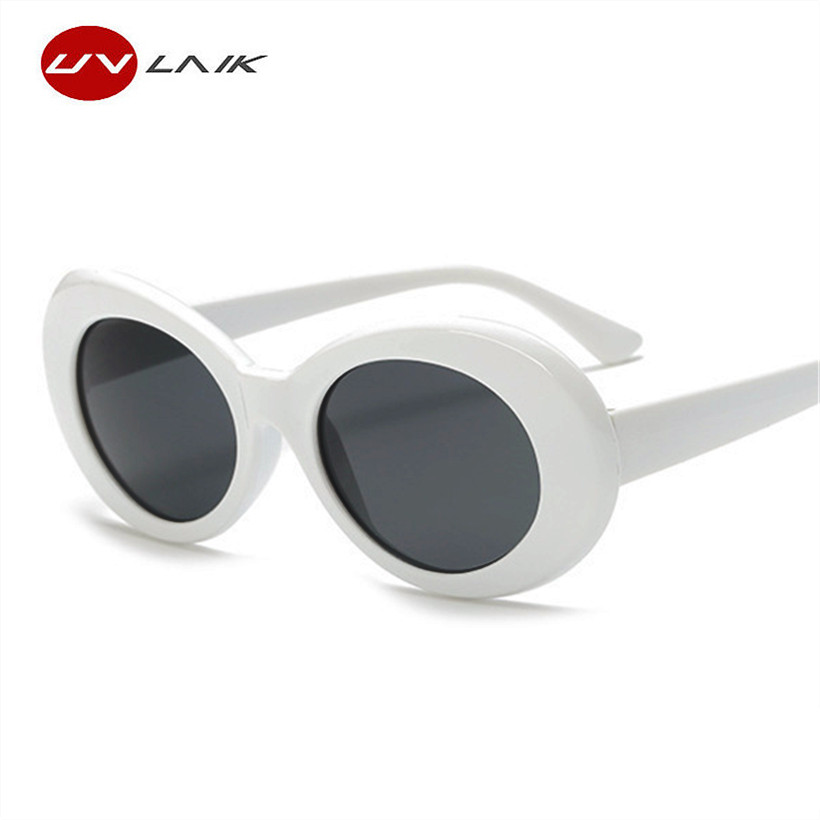 UVLAIK Vintage NIRVANA Kurt Cobain Round font b Sunglasses b font For Women Men Mirrored Glasses