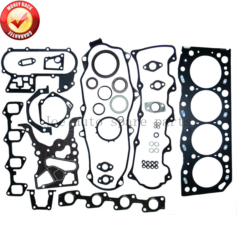 <font><b>5L</b></font> <font><b>Engine</b></font> Full gasket set kit for <font><b>Toyota</b></font> Hiace III II /Hilux II /Dyna 2986cc 3.0L 51009400 04111-54094 9952864 04111-54106 image