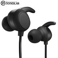 TOMKAS Wireless Bluetooth Earphone For Phone With Microphone Sport Headset Bluetooth Headphone For IPhone Bluetooth Headphones