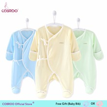 Newborn Baby Clothes Unisex Footies Cotton Infant  Jumpsuit Boy 0-3 Month NY550001