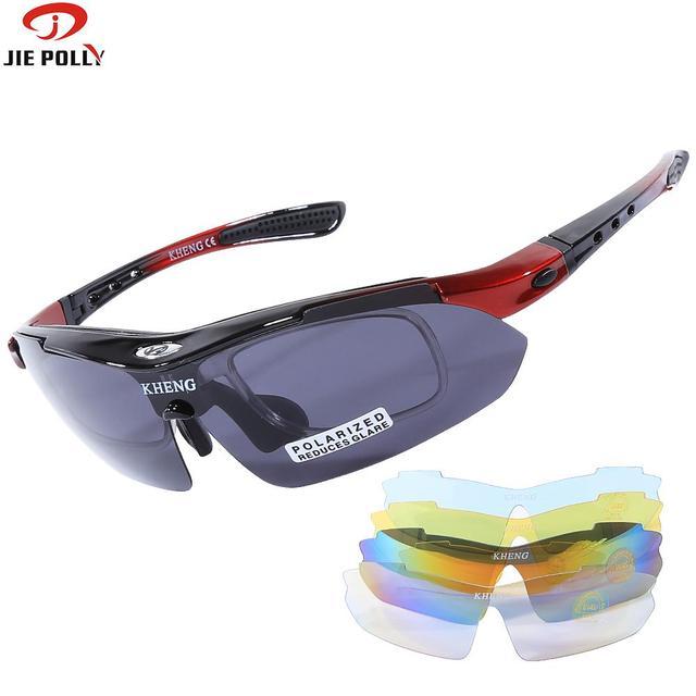 64cdc6e60facd Ciclismo Óculos De Sol Óculos Polarizados Óculos de Bicicleta UV400 Road  Bike Óculos de Lentes HD