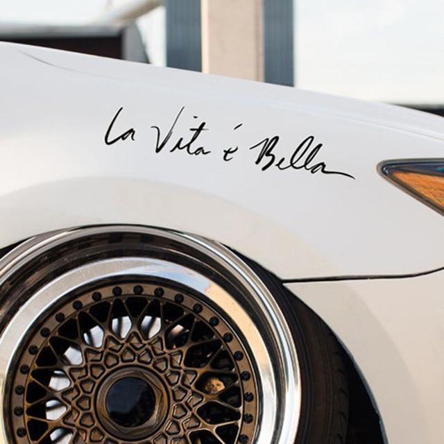 Newest new waterproof luxury car sticker design funny pretty car decor cute 2017 goods best beauty