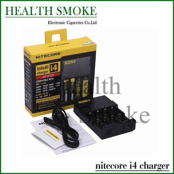 Geunine Nitecore i4 Intellicharge Universal carregador de bateria RCR123A 26650 18650 AA / AAA com caixa