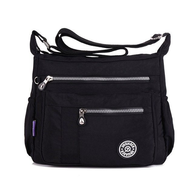Nylon Ladies Tote Shoulder Bag Handbag Solid Waterproof Tote Messenger Bag  Women Satchels Designer Top-handle Crossbody Bags eb38b5c1be