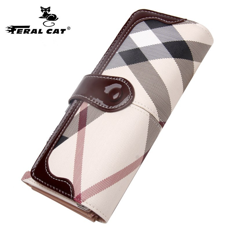 FERAL CAT 2017 New Women Wallets Female Purse Long Coin Purses Holders Ladies Fashion Hasp Large Capacity Wallets And Purses
