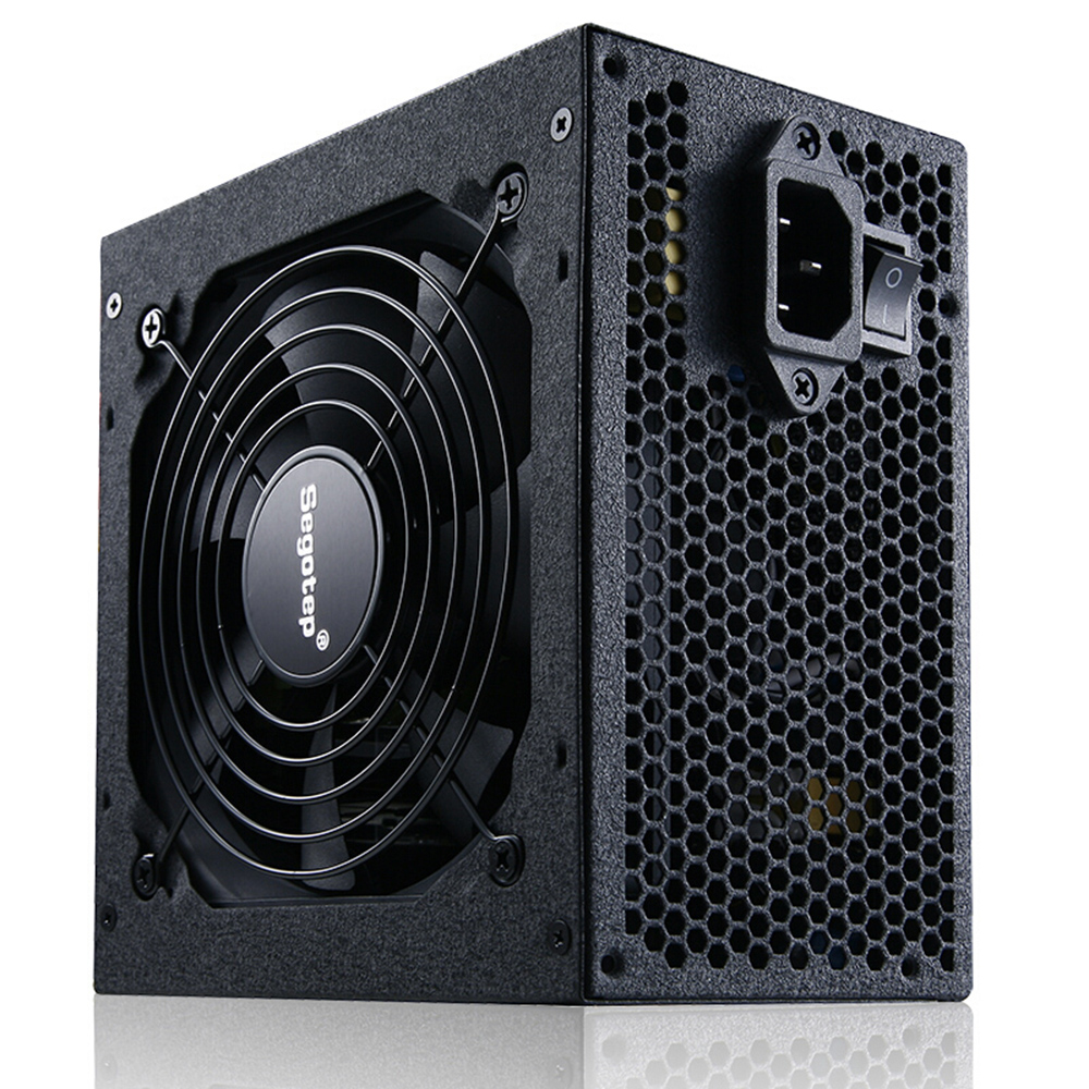 Segotep 600W GP700G ATX PC Computer Power Supply Gaming PSU 12V Active PFC 93% Efficiency 80Plus Gold Universal AC Input 100-240