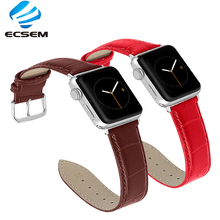 watchband For iwatch series 4/3/2/1 leather strap replacement band for for apple watch 42mm 38mm bracelet wrist strap new rugged protective case with strap bands for apple watch series 1 38mm 42mm watchband strap bracelet replacement accessory