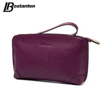 BOSTANTEN High Capacity Fashion Women Wallets Long Genuine Leather Wallet Female Zipper Clutch Coin Purse Cell