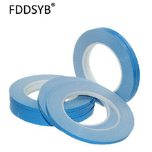 3 25mmx25mx0.2mm high quality Transfer Tape Double Sided Thermal Conductive Adhesive tape for Chip PCB LED Heatsink freeshipping
