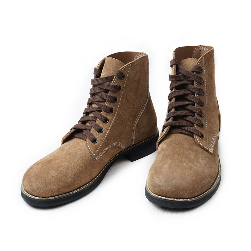 WW2 US Army GI Rough Out Ankle Boots - All Sizes - Repro American Leather Boots EUR40-EUR46-US/406113