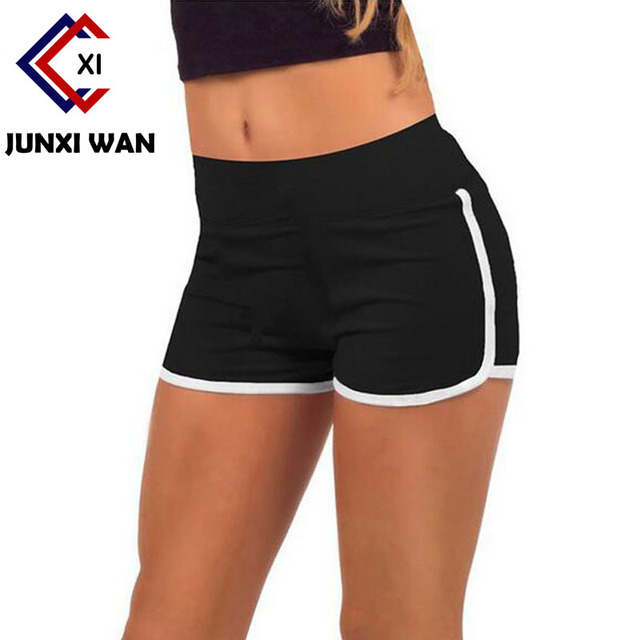 07da925bc4 ... Women Sports Shorts 2016 Summer Cotton Running Fitness Sport Training  Shorts Solid Plus Size Gym Shorts ...