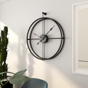 Image 1 - 80CM Große Wanduhr Moderne Design Uhren Für Wohnkultur Büro Europäischen Stil Hängenden Wand Uhr Uhren